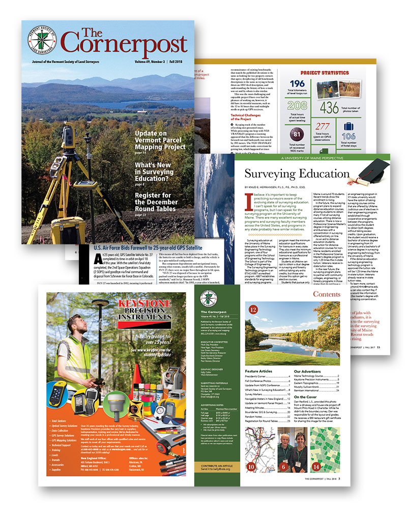 The Cornerpost magazine, Vermont Society of Land Surveyors
